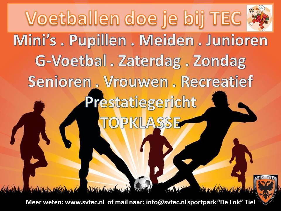 Voetballen doe je bij TEC