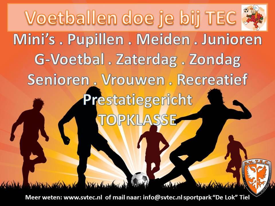 TEC voetballen doe je bij