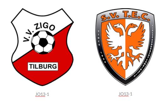 Wedstrijdverslag competitiewedstrijdV.V. ZIGO JO13-1 - TEC JO13-1 (Uitslag 1-4)