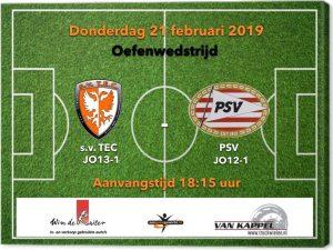 Oefenwedstrijd TEC JO13-1 - PSV JO12-1