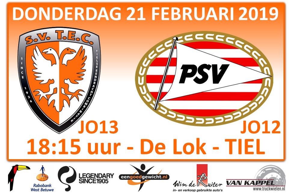 Oefenwedstrijd TEC JO13-1 - PSV JO12