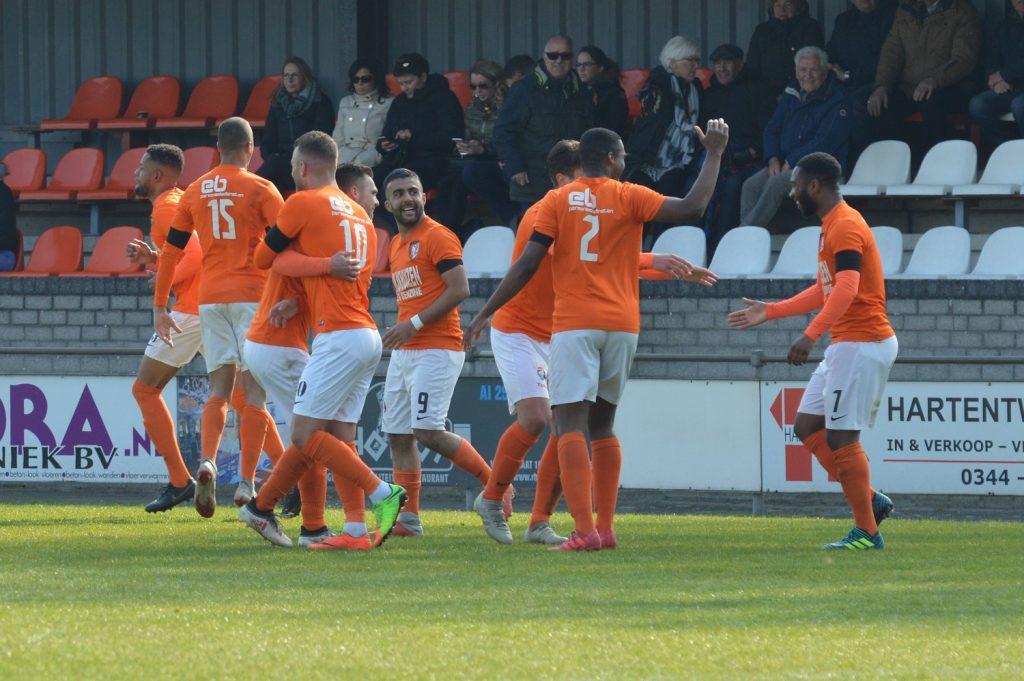 Derde Divisie TEC - Jong FC Volendam - Doelpunt Obi Onyeike