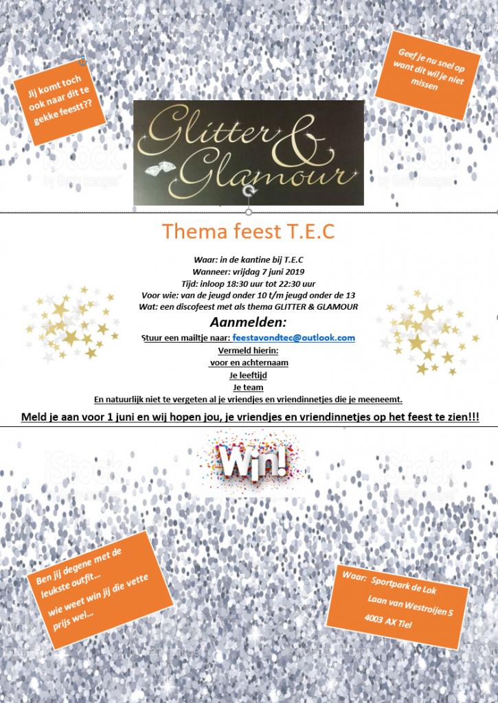Glitter Glamour Party TEC Jeugd