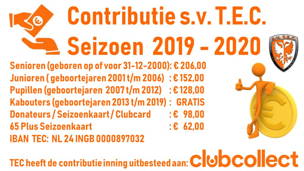 Contributie TEC 2019-2020