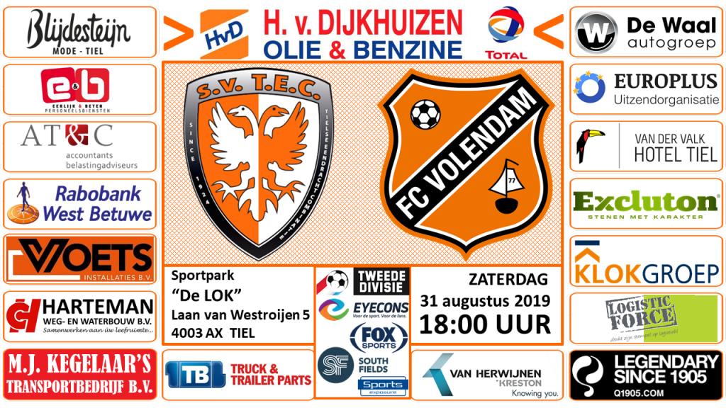 TEC- FC Jong Volendam Tweede Divisie