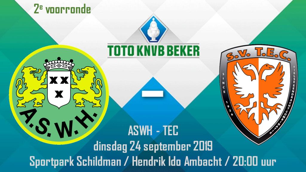 Bekerwedstrijd ASWH - TEC @ Sportpark Schildman