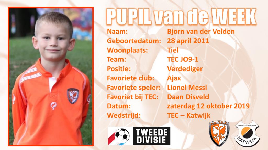 🧡 | Pupil van de Week Bjorn van der Velden | TEC Katwijk