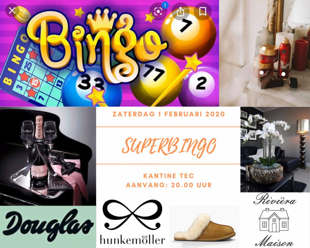 Zaterdag 1 februari Superbingo in Tiel. Prijzen van rituals, douglas, uggs, waardebonnen en meer....
