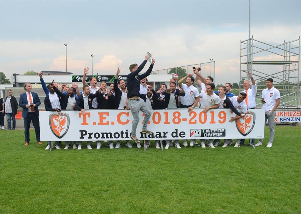 Daan Disveld promoveert met TEC naar Tweede Divisie