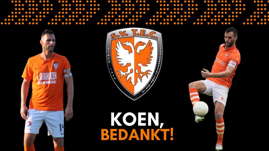 Koen van der Biezen verlaat TEC en stopt als voetballer. Koen, bedankt!