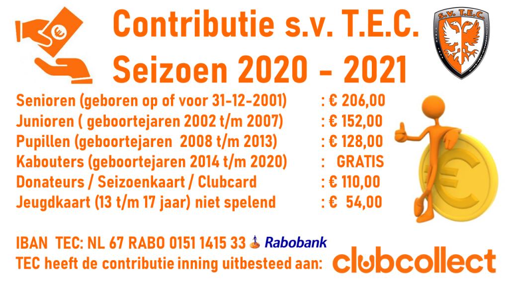 Contributie TEC 2020-2021