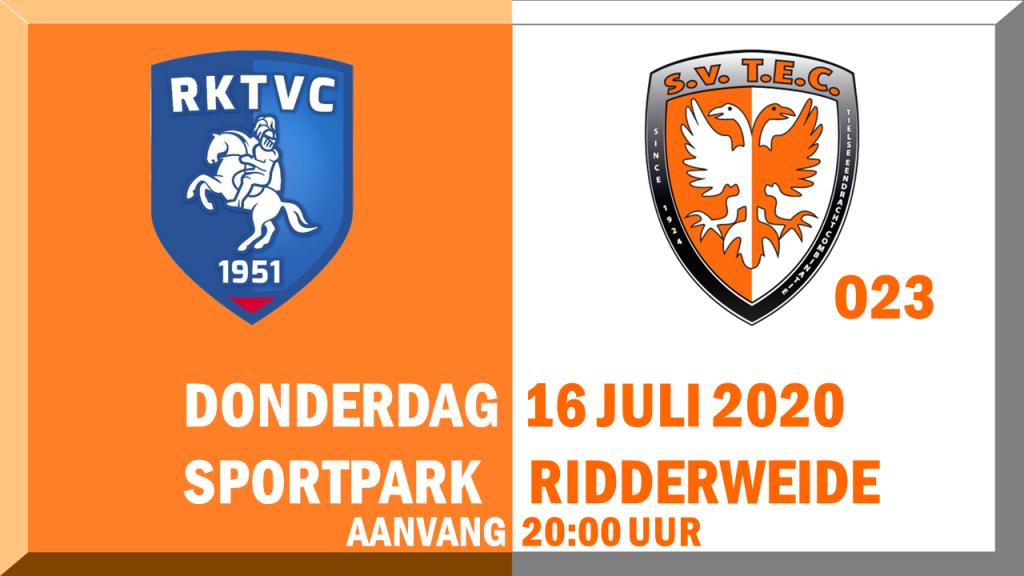 Oefenwedstrijd RKTVC - TEC O23 @ Sportpark De Ridderweide