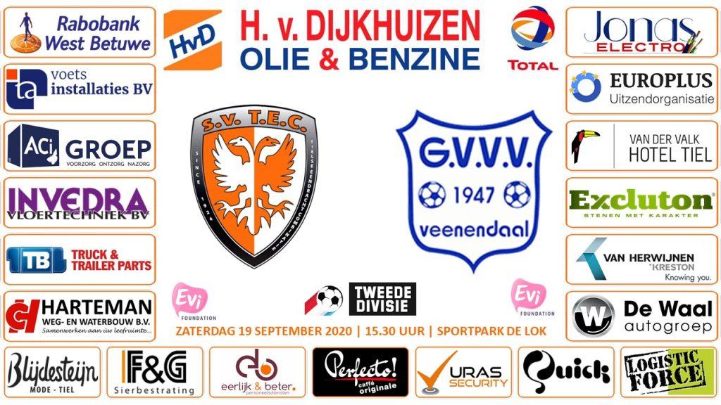 TEC - GVVV | Tweede Divisie | Zaterdag 19 september 2020 | Aanvang: 15.30 uur