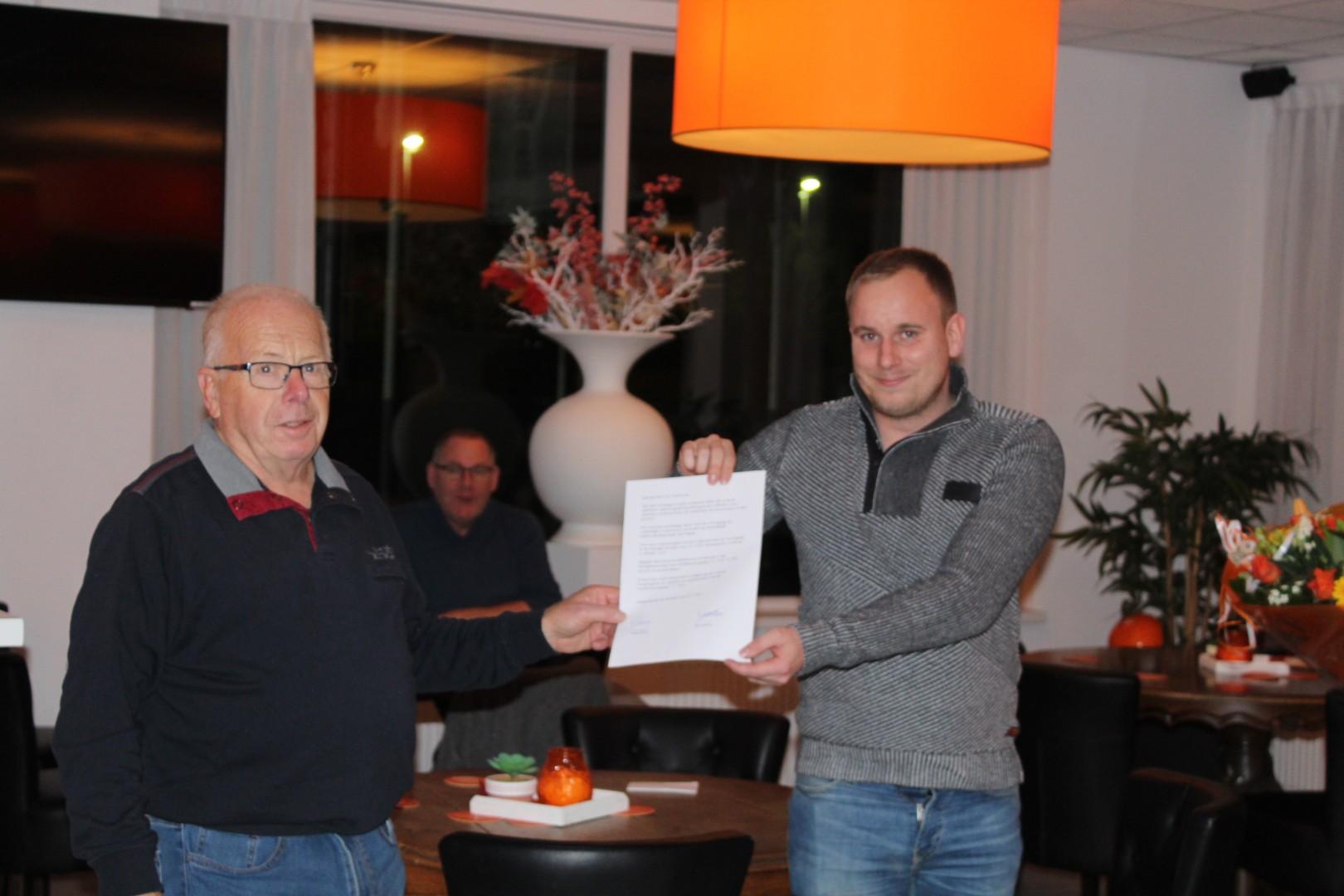 Gerrit Gerritsen benoemd tot erelid sv TEC