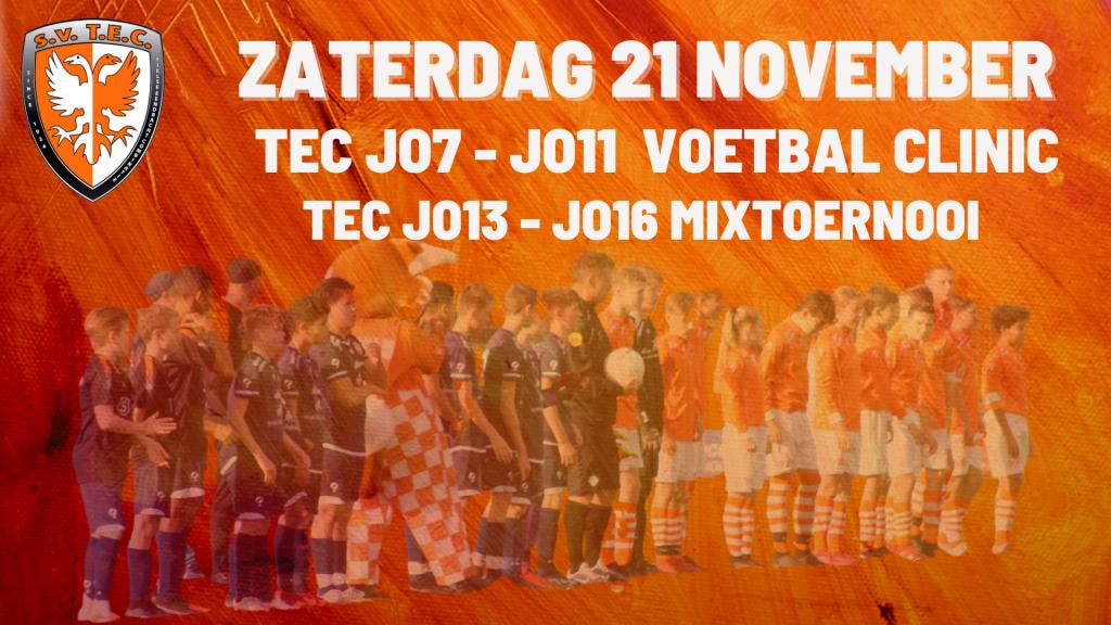 Voetbal clinic TEC | Mixtoernooi TEC
