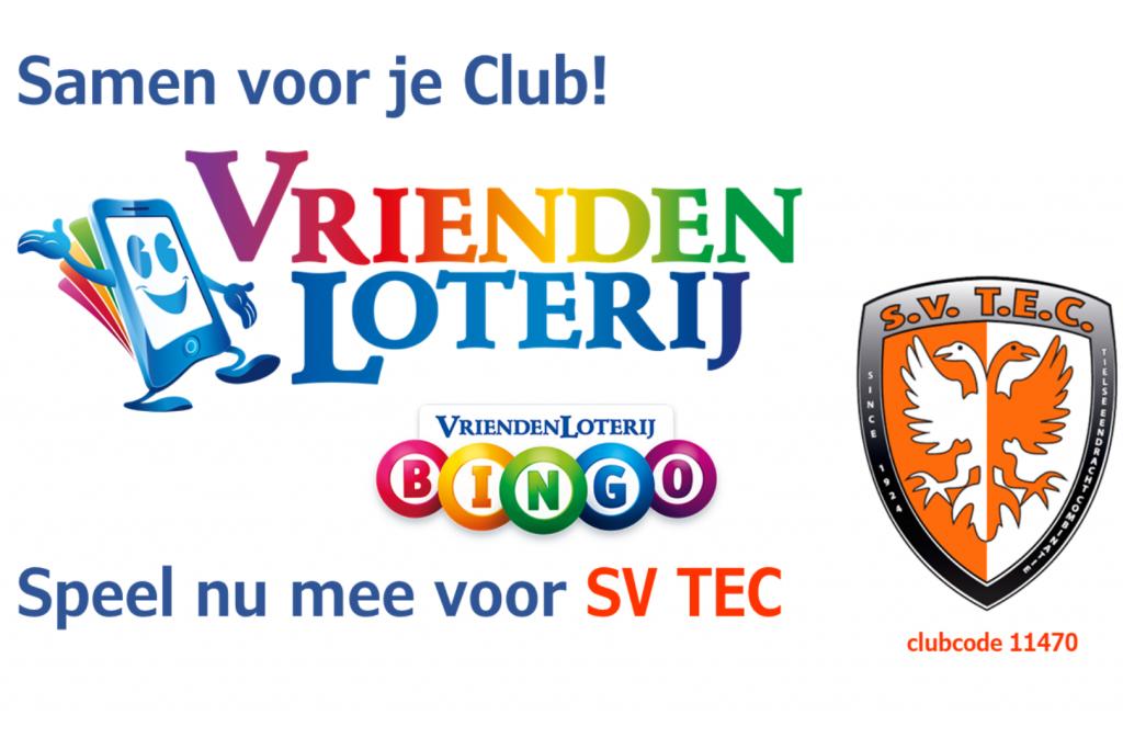 Steun SV TEC en speel mee met de Vriendenloterij