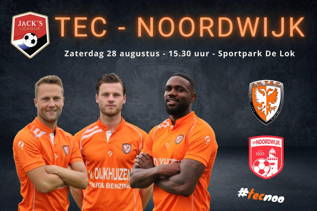 Jack's League | TEC - Noordwijk | Zaterdag 28 augustus 2021 | Aanvang: 15.30 uur | Sportpark De Lok, Tiel