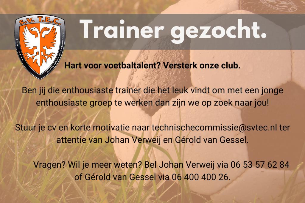Trainer Gezocht _ SV TEC