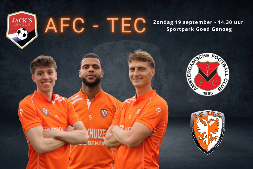 AFC - TEC | Zondag 19 september 2021 | Aanvang: 14.30 uur | Sportpark Goed Genoeg Amsterdam